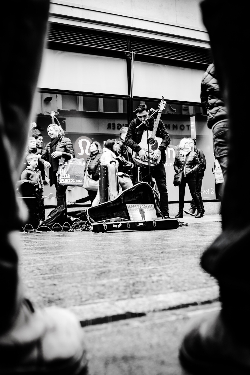 Live music on the streets of Dublin