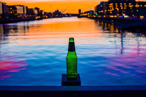 Bottle of Carlsberg in Dublin Ireland