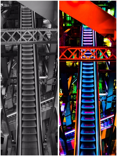 The Escalators in Guinness Brewery