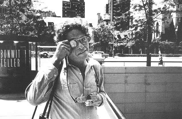 Gary Winogrand poses for a photograph