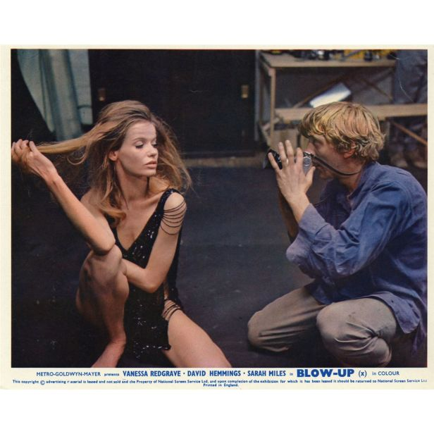 A still from the film set of Blow Up